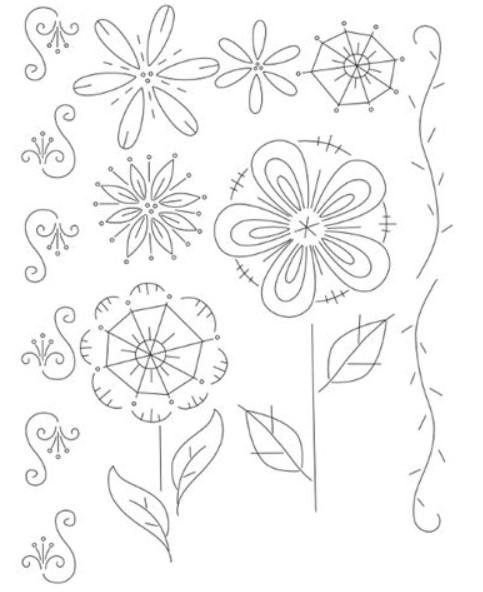 Broderimønster - Fantasy Flowers