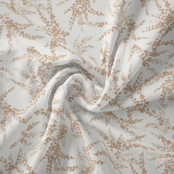 Family Fabrics - Ferns Latte