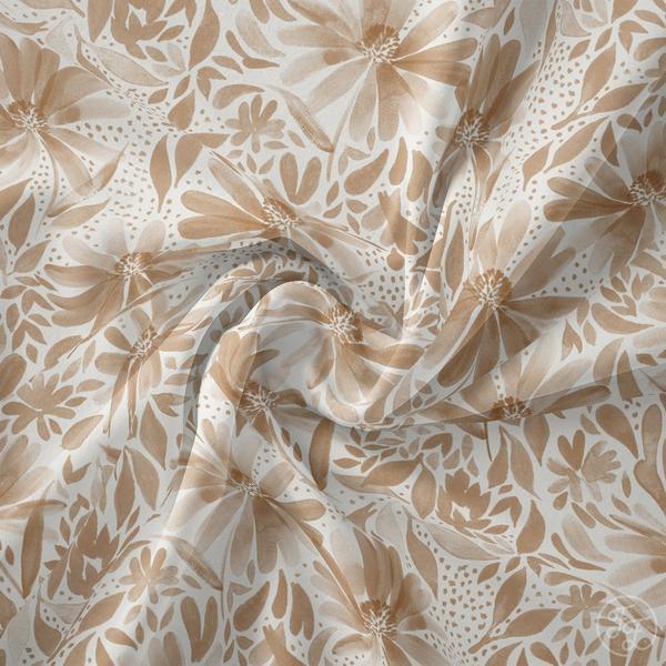 Family Fabrics - Coneflower Latte