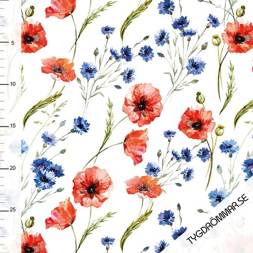 Tygdrömmar - Summer Poppies