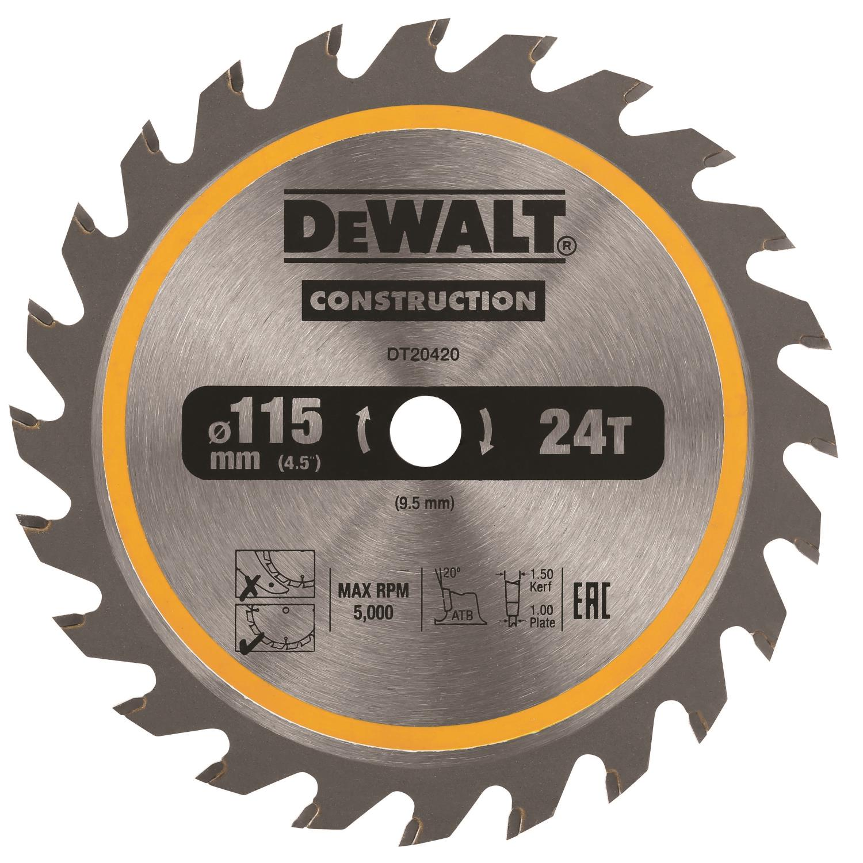 SAGBLAD 115mm 24T TCT DT20420 DEWALT