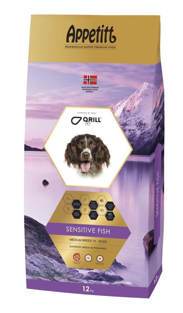 Appetitt dog sensible fish medium 12kg.