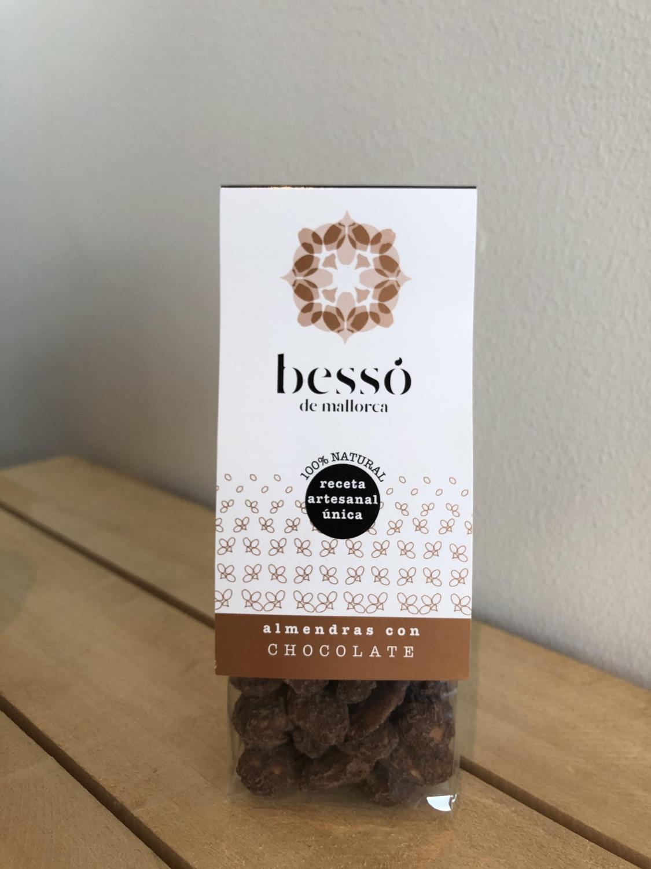 Besso mandler 90gr, sjokolade