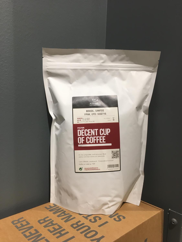 Decent cup of coffee, filtermalt