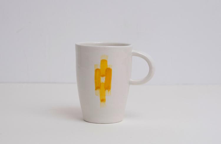 Vicens - Kopp, stor/mellom, gul