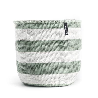 Mifuko - Kurv uten håndtak, S, grønn m/tykke striper