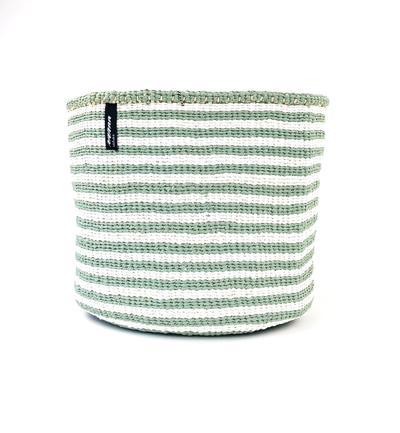 Mifuko - Kurv uten håndtak, S, grønn m/tynne striper
