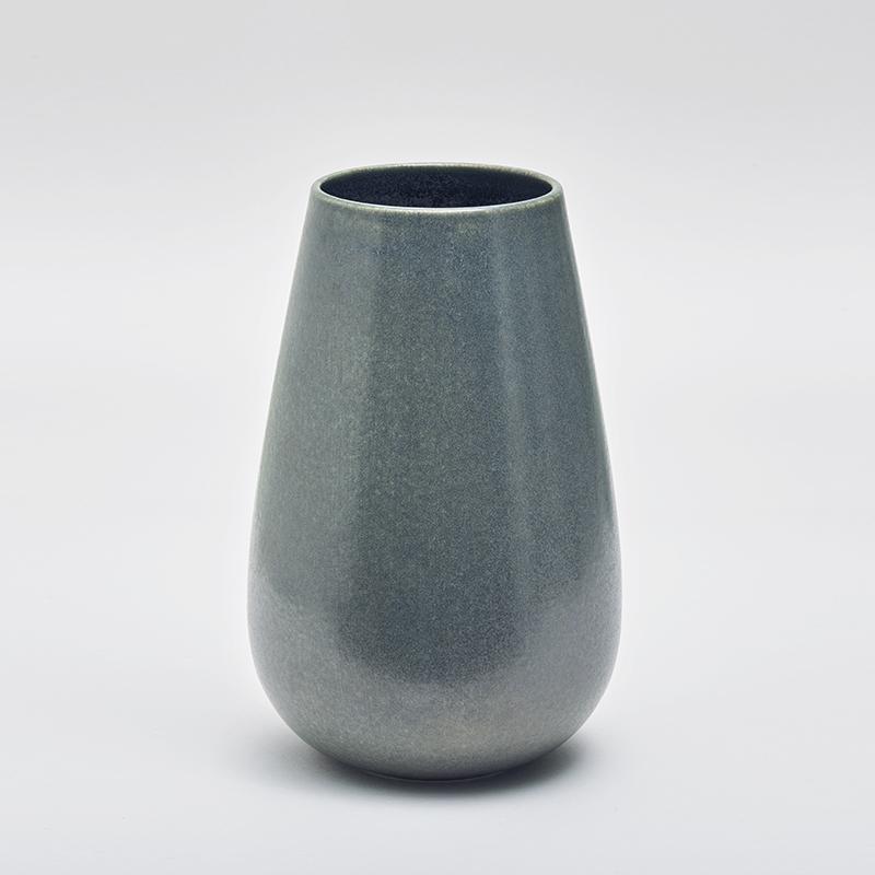 LAND høy vase, petrol