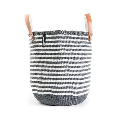 Mifuko - Totebag, M, grå m/hvite striper