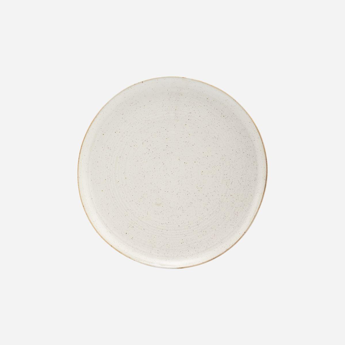 House Doctor - Middagstallerken, Pion, grå/hvit