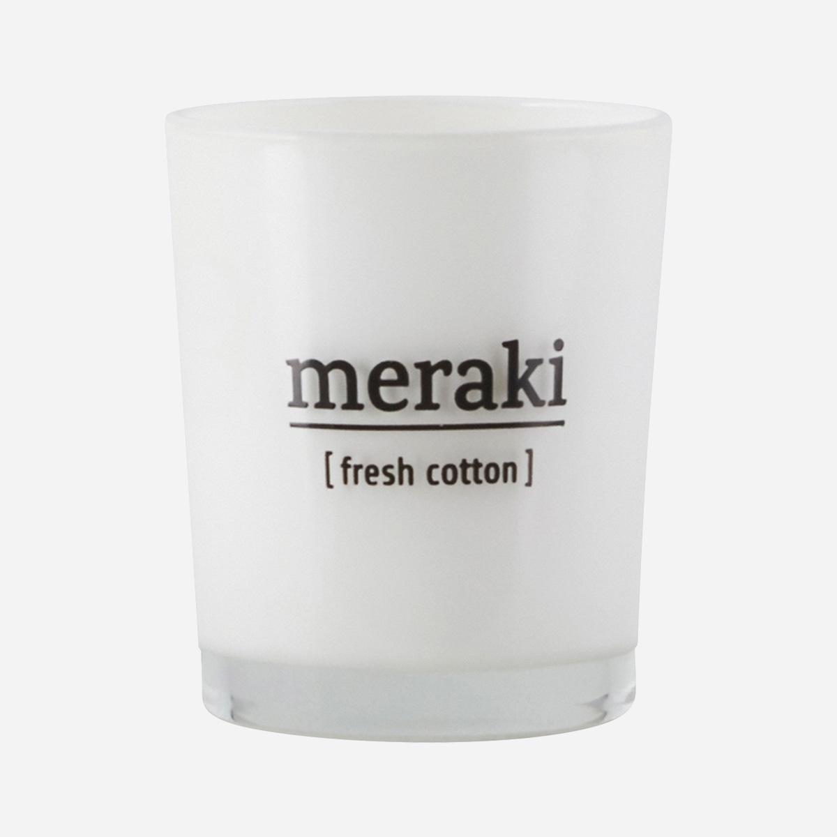 Meraki - Duftlys, fresh cotton, 60g