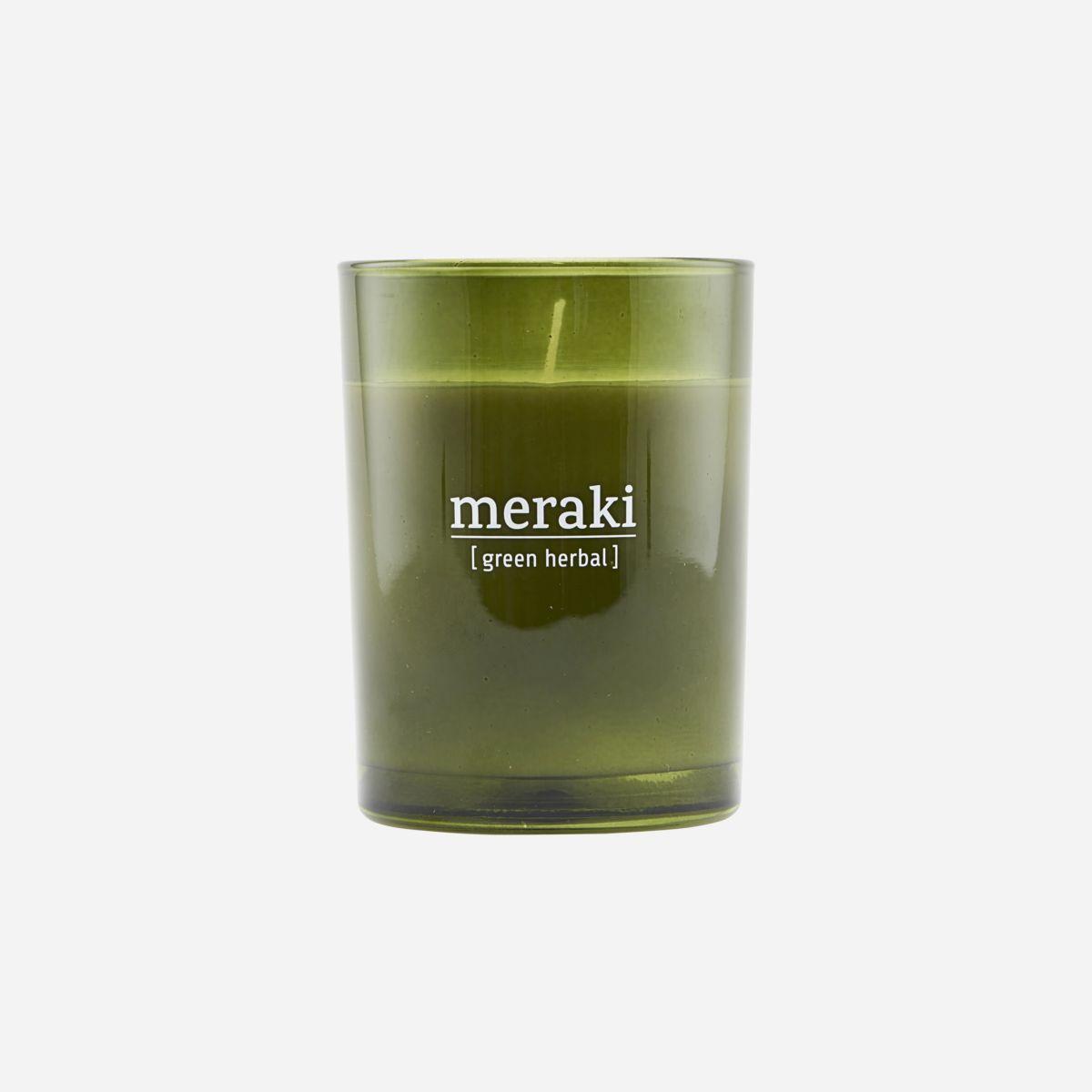 Meraki - Duftlys, green herbal, 220g
