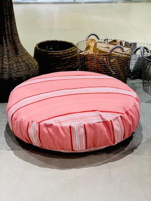 Vicens - puff 80cm*15cm Rosa med striper