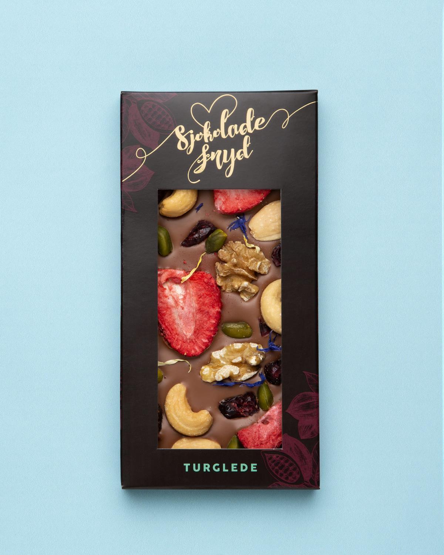 Jentene på tunet - Turglede - mørk sjokolade stor