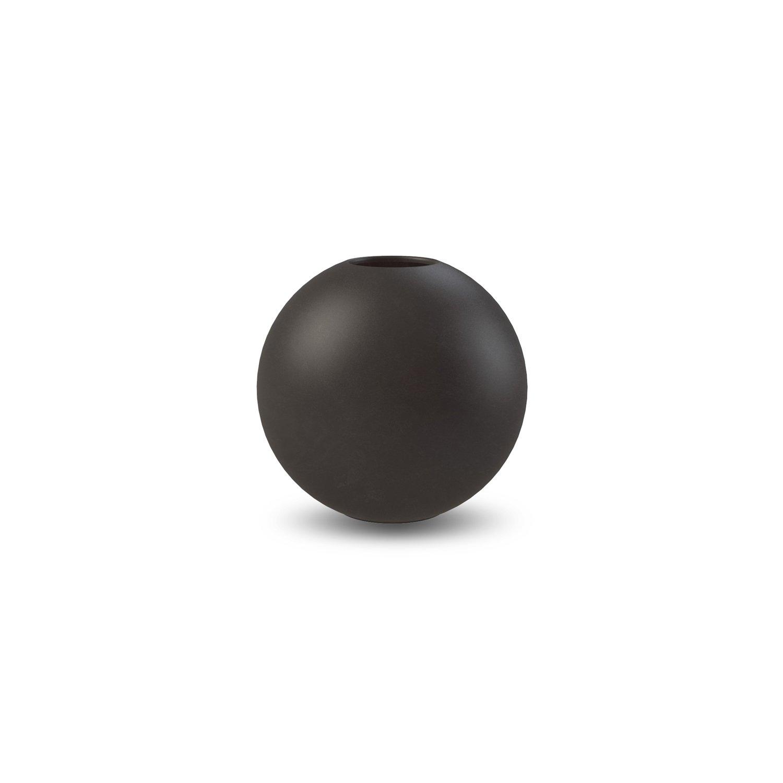 COOEE - Ball Vase 10 cm svart