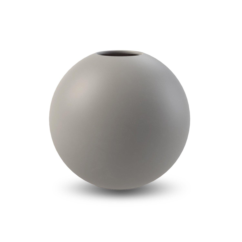 COOEE - Ball Vase 20cm grå