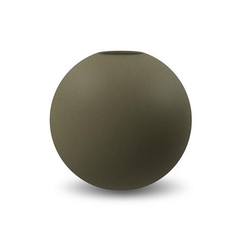 COOEE - Ball Vase 20cm olive