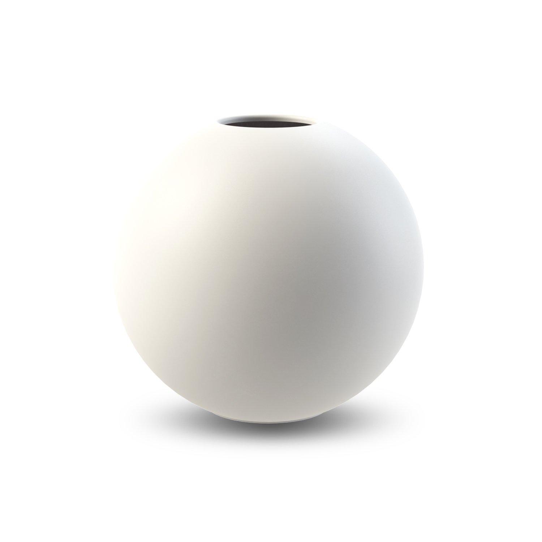 COOEE - Ball Vase 20cm hvit