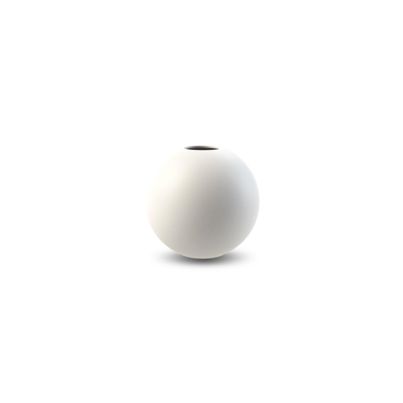 COOEE - Ball Vase 8cm, hvit