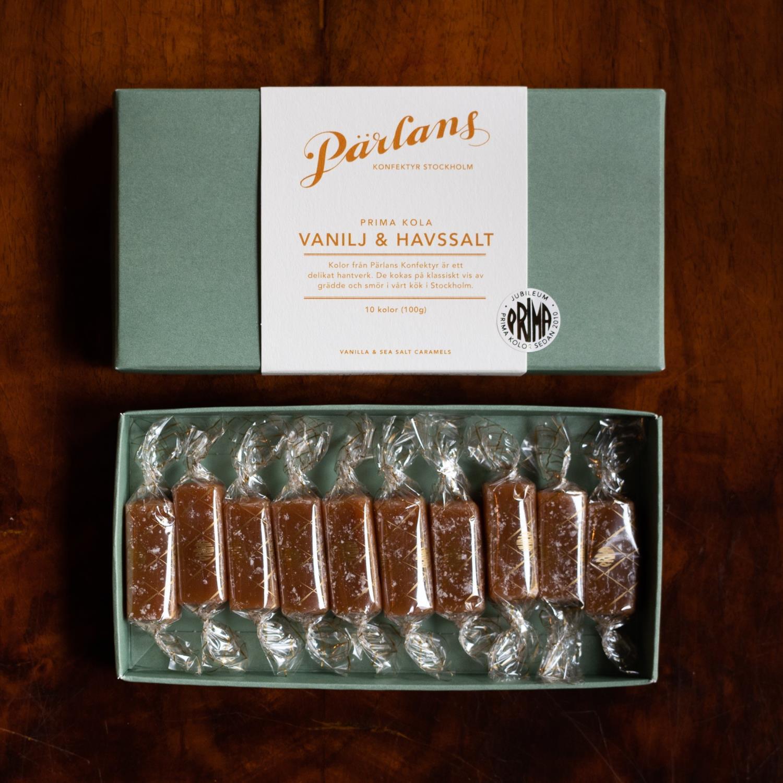 Parlans Karameller 10 stk vanilje og havsalt