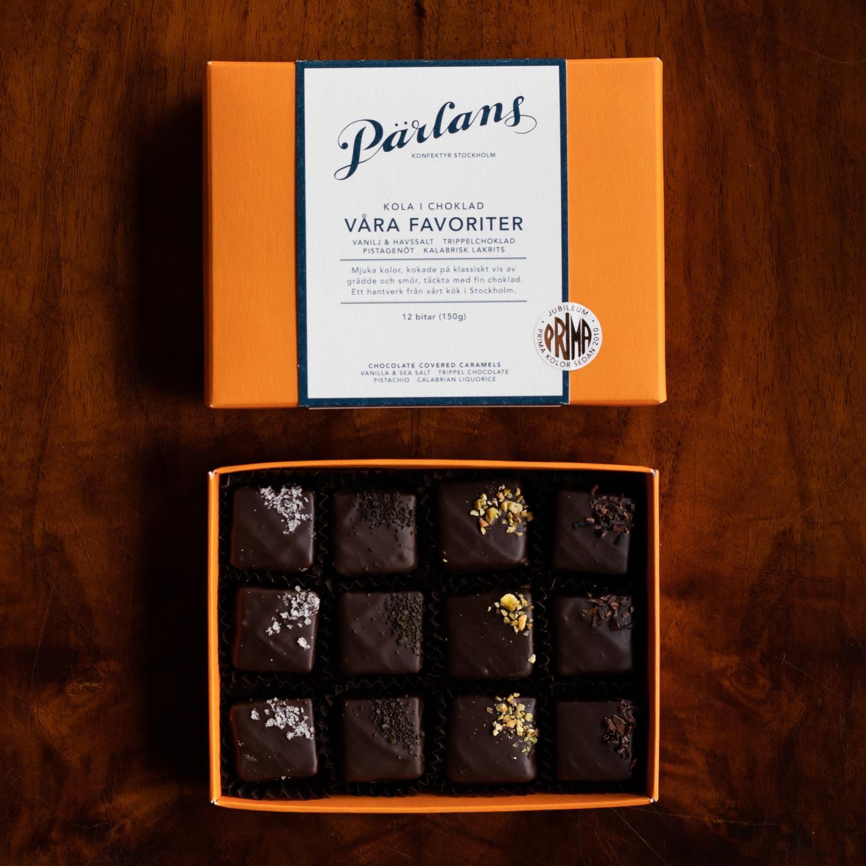 Parlans Karamell i sjokolade 12 stk Våre favoritter