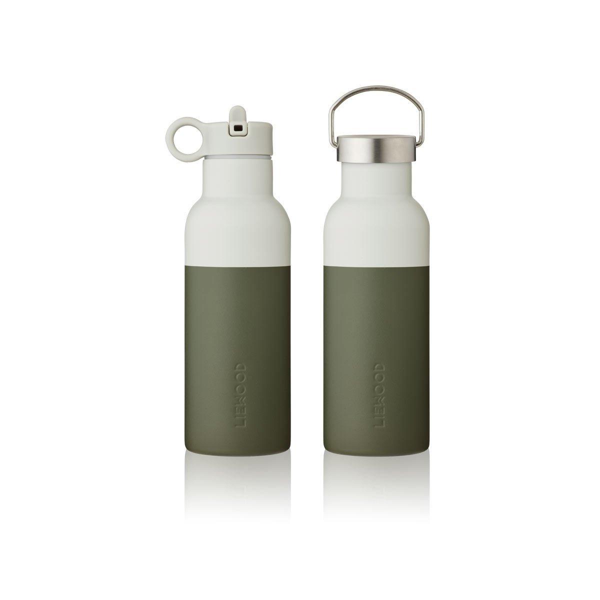 LIEWOOD Neo vannflaske 500ml Hunter Green/Dove blue mix