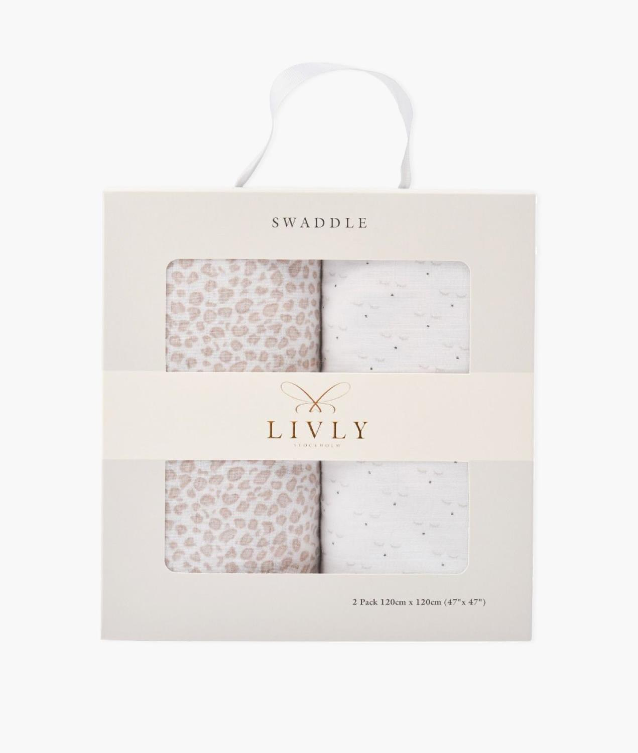 LIVLY Swaddle 2-pack
