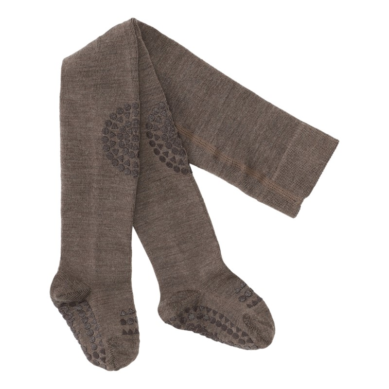 GOBABYGO Wool tights brown melange