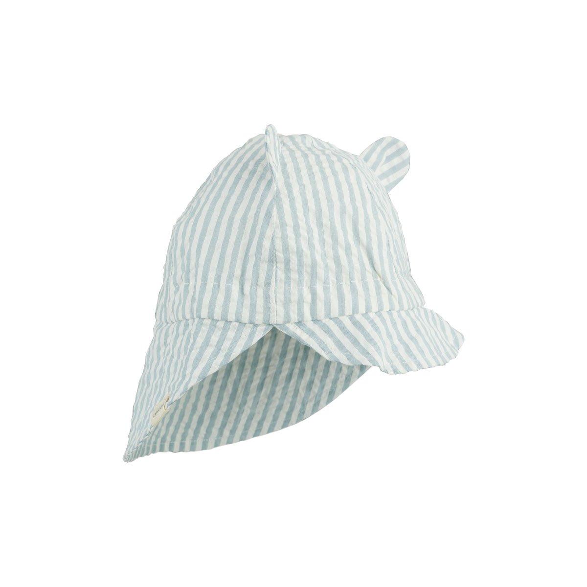 LIEWOOD Gorm Sun Hat Sea Blue/White