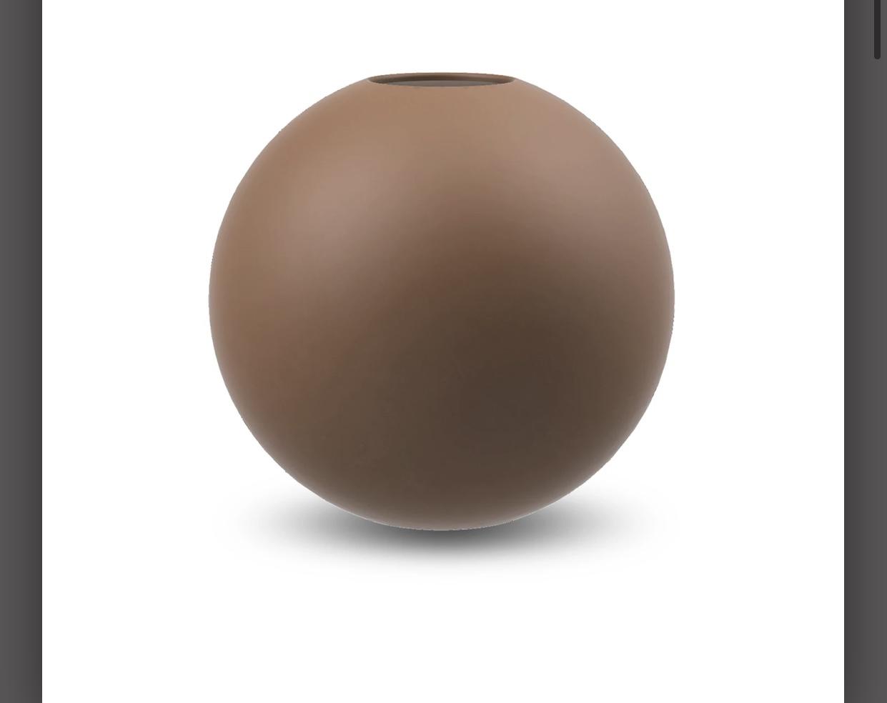 Ballvase 8 cm Coconut