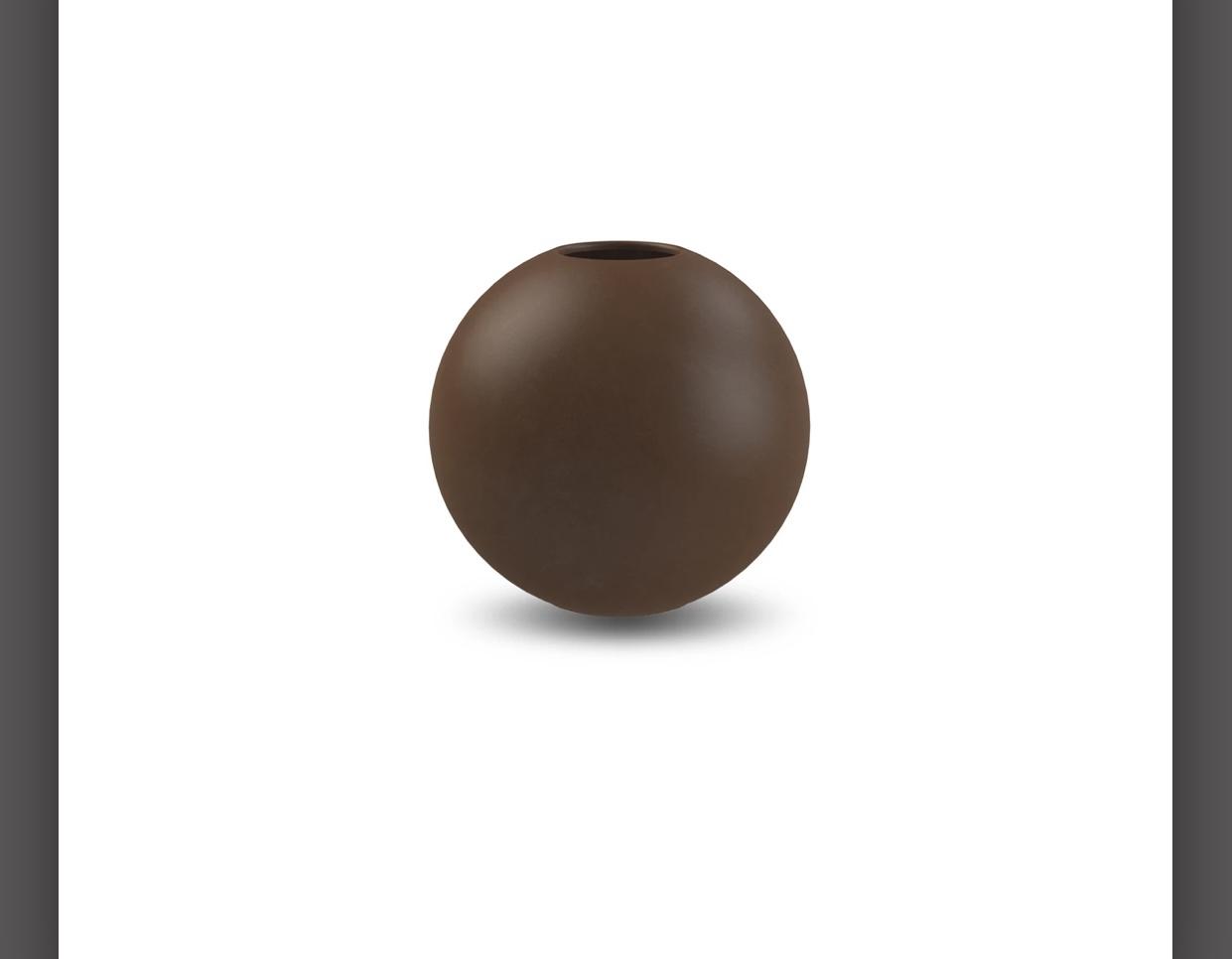 Ballvase | 10cm | Coffee
