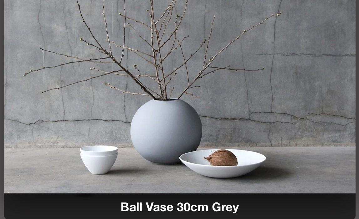 Ballvase | 30cm | Grey