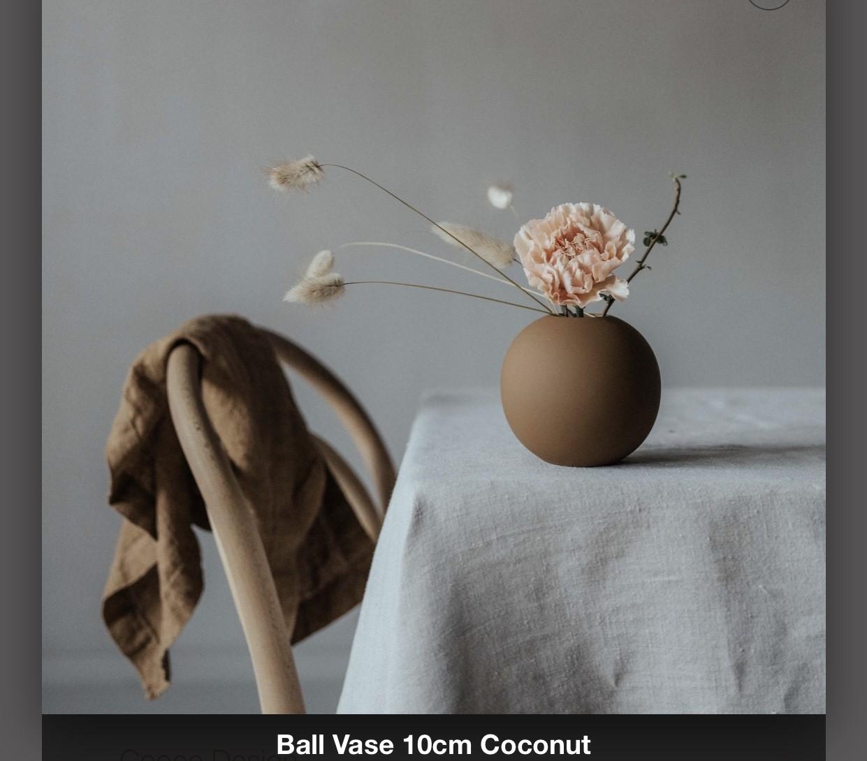 Ballvase 10 cm Coconut