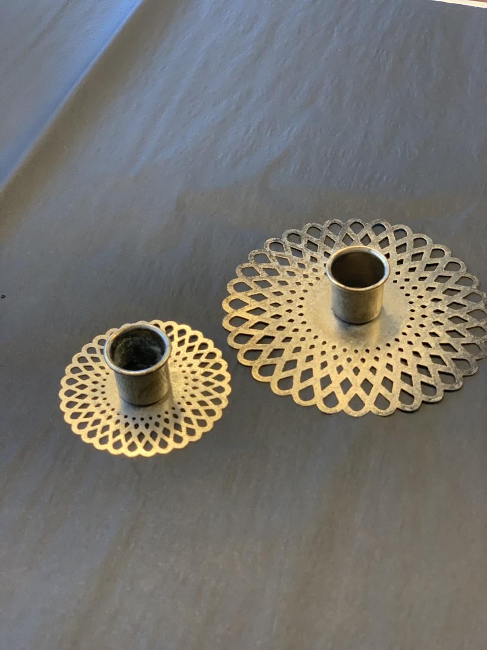 Lysholder Stor 12cm metall