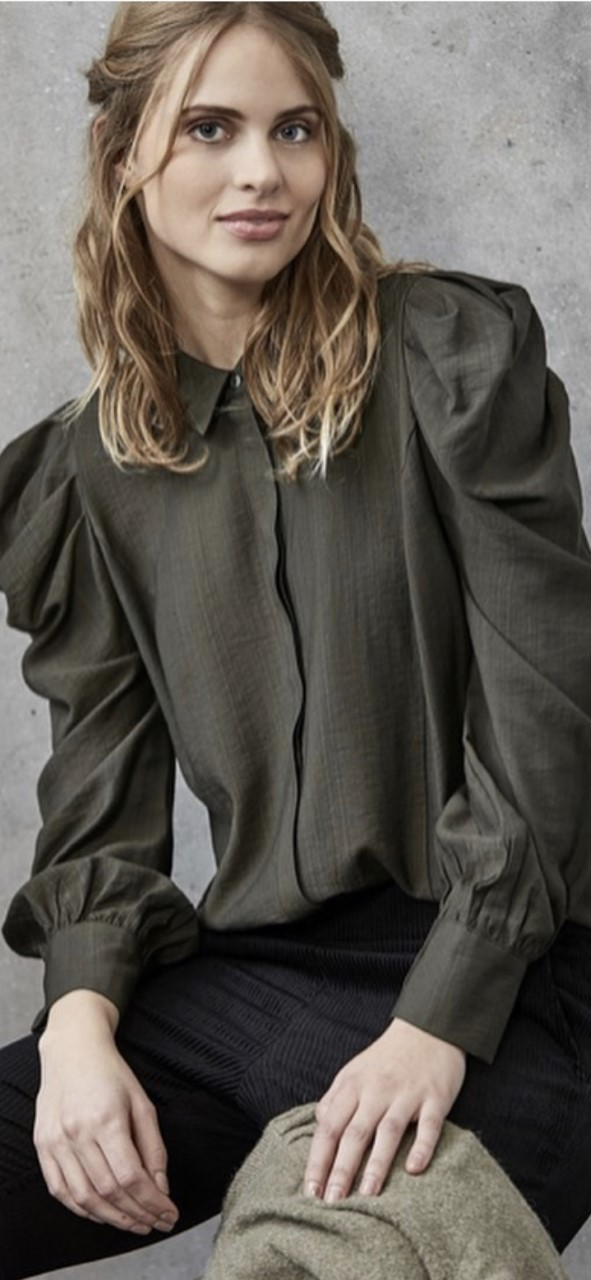 Soulmate Wilda Blouse Bluse- army