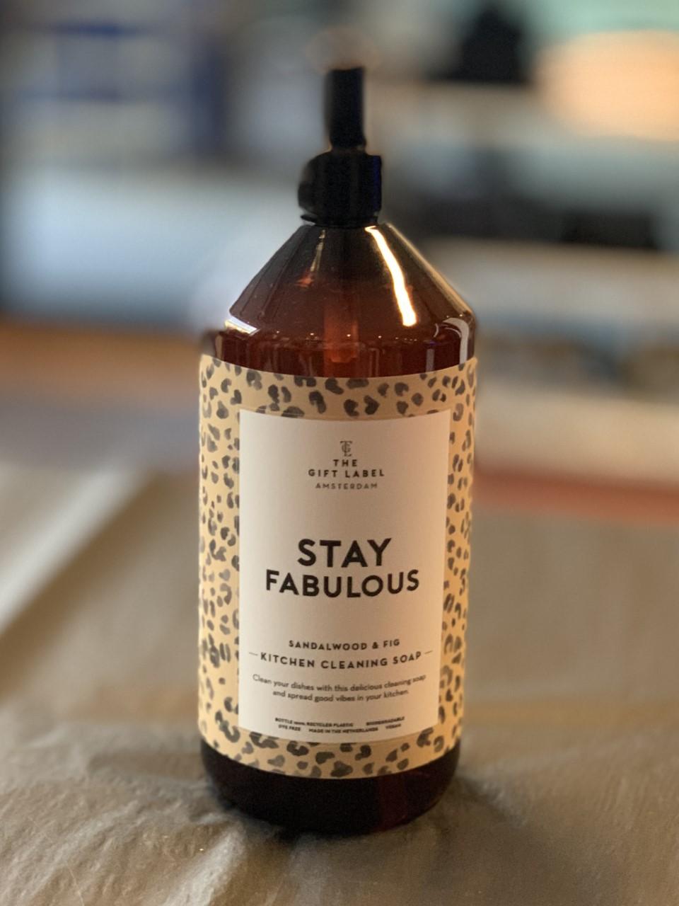 "GiftLabel Kitchen soap Oppvasksåpe ""Stay Fabulous"""