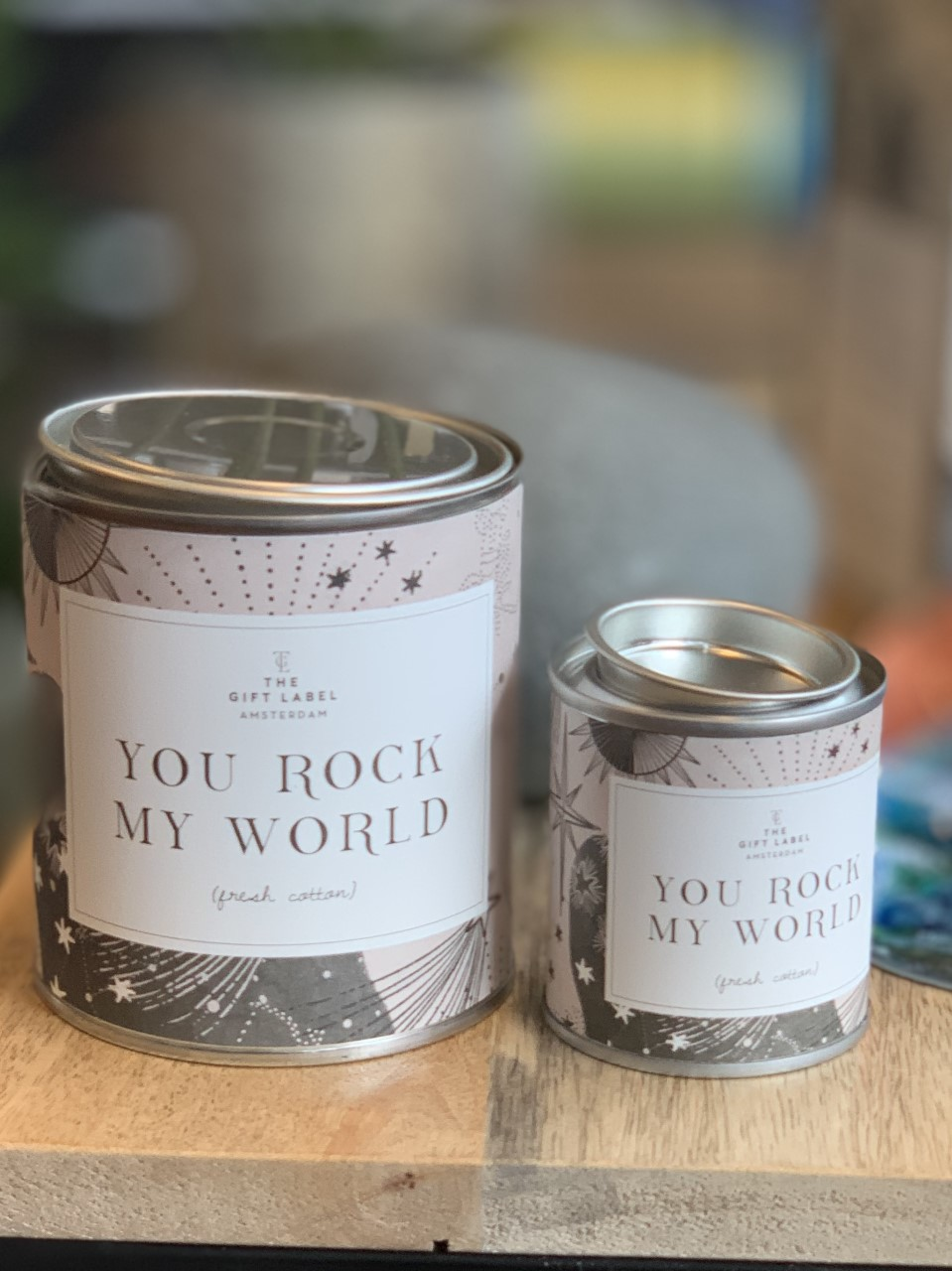 GoftLabel Candel Duftlys Stor- You rock my world