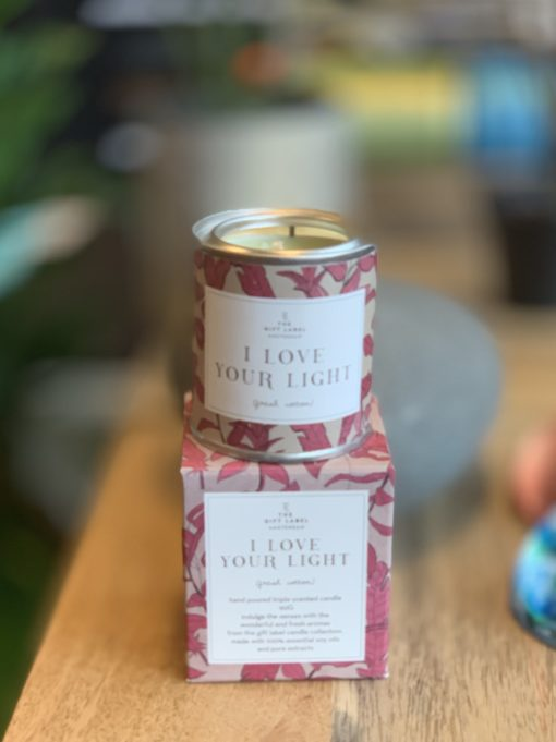GiftLabel Candel Duftlys small - I Love Your Light