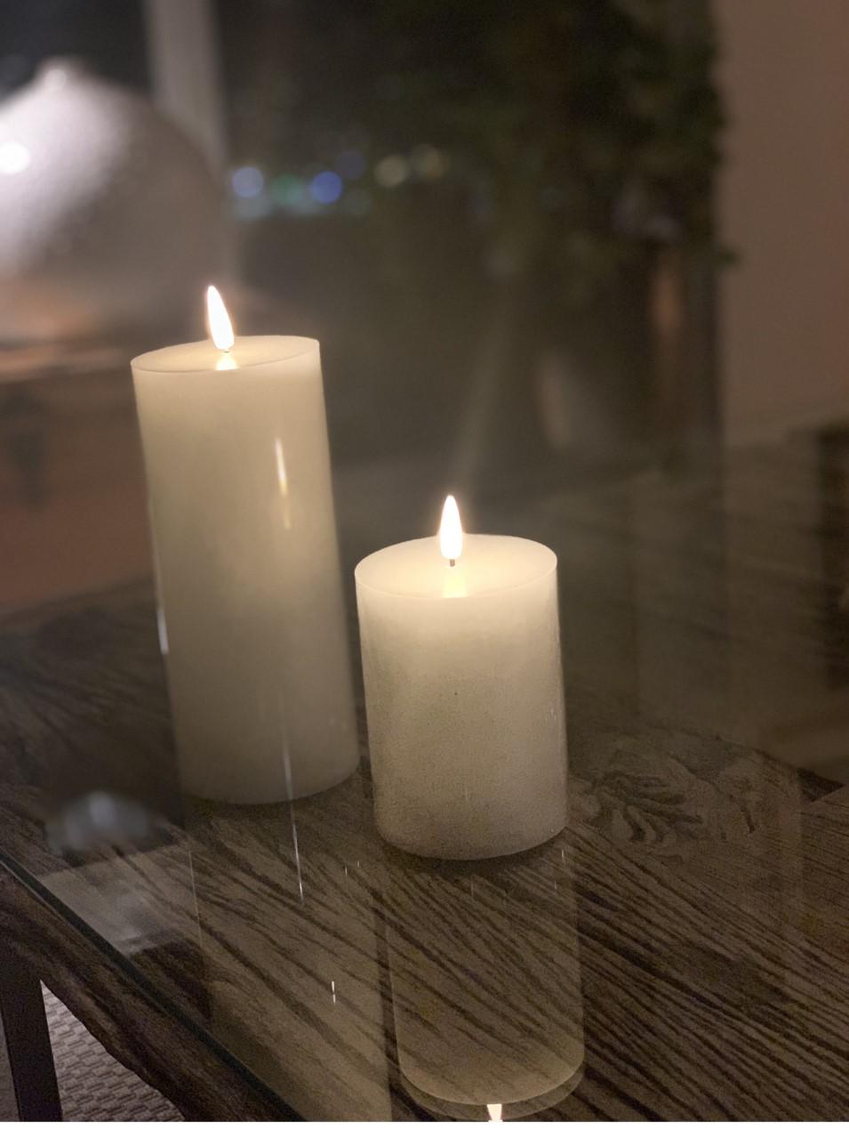 LED kubbelys Candel 16,5 cm Hvit