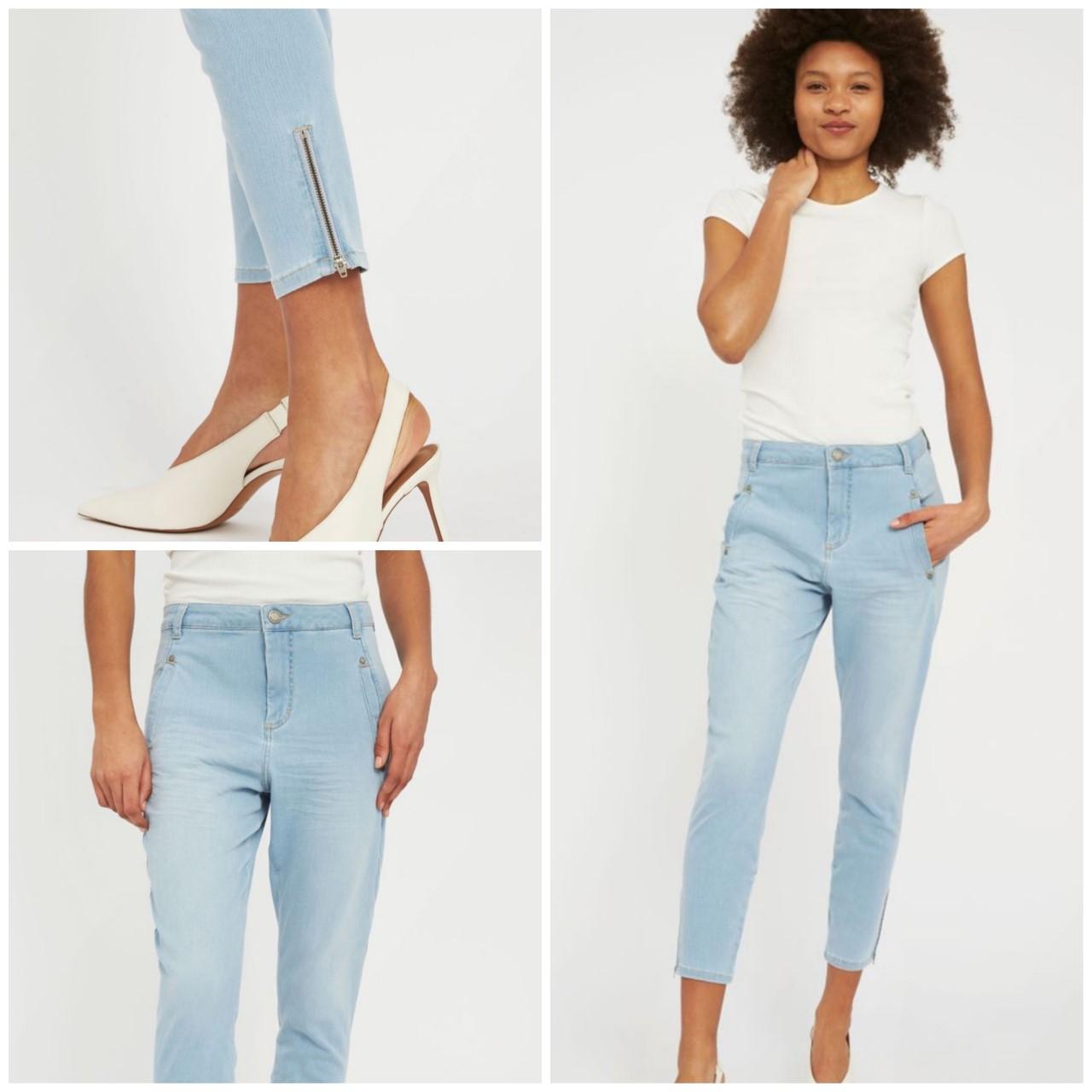 FiveUnits Jolie zip blue