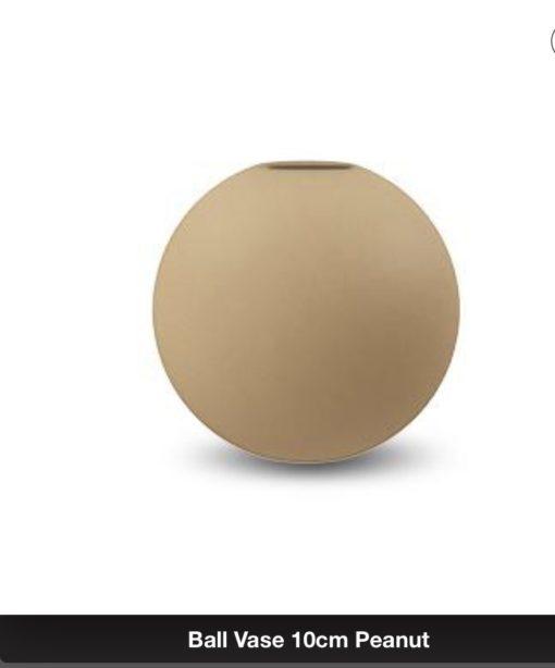 Cooee Ballvase 10cm Peanut