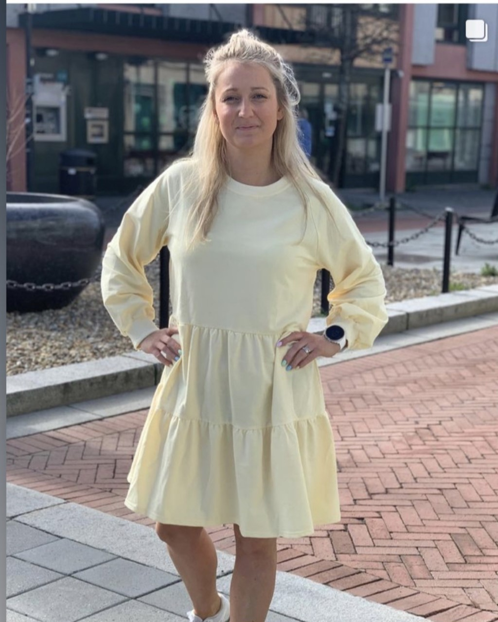 Noella Holly sweat dress kjole