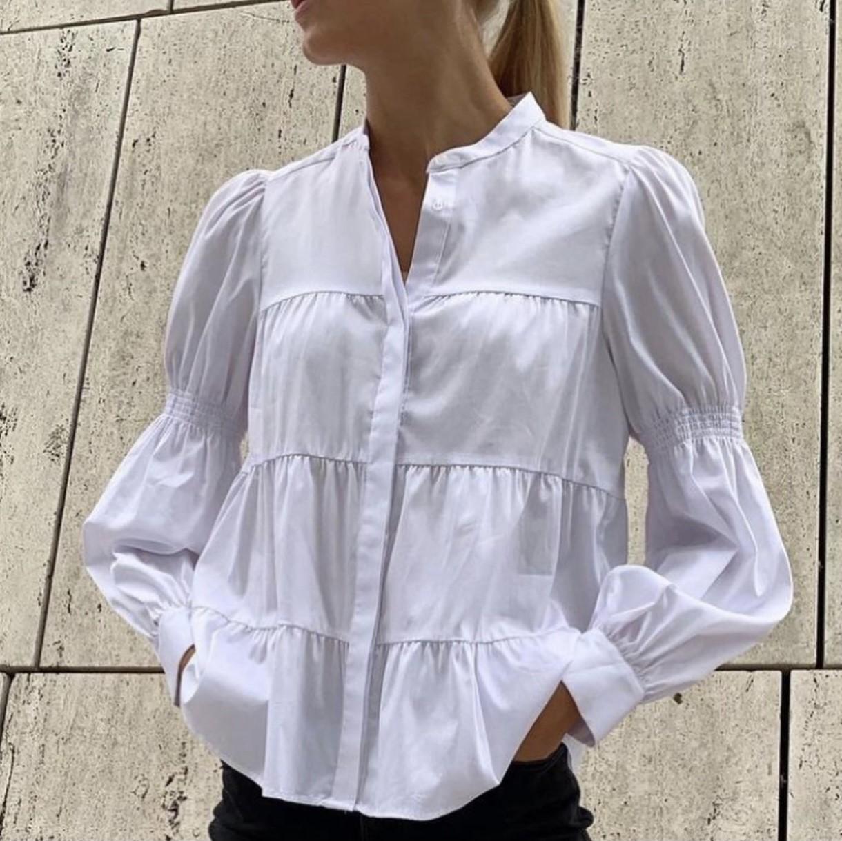 Leveteroom Isla solid shirt bluse