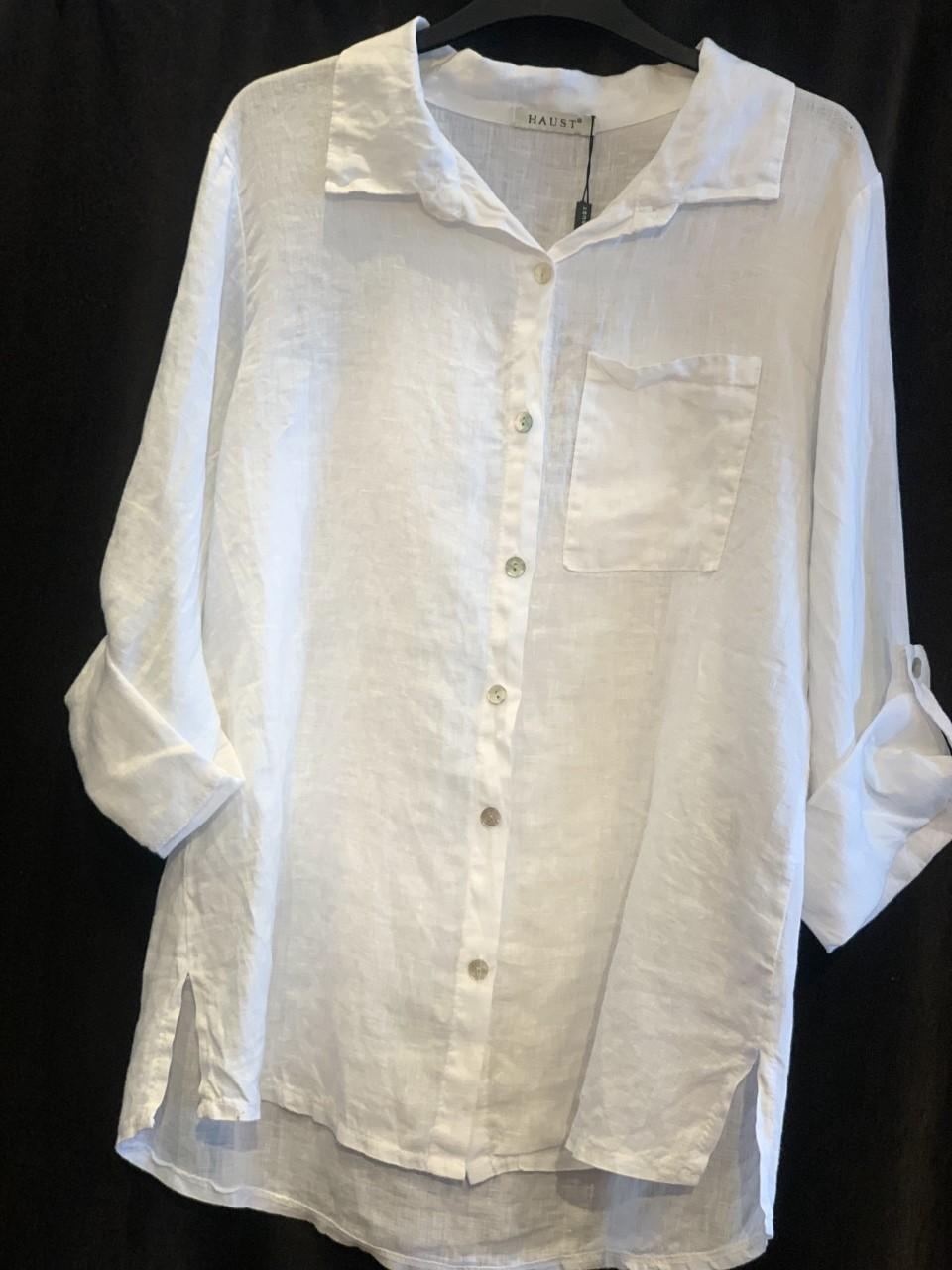 HAUST Basic Lin shirt skjorte