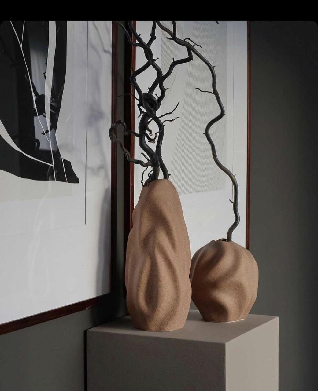 Cooee Drift vase 30cm Walnut