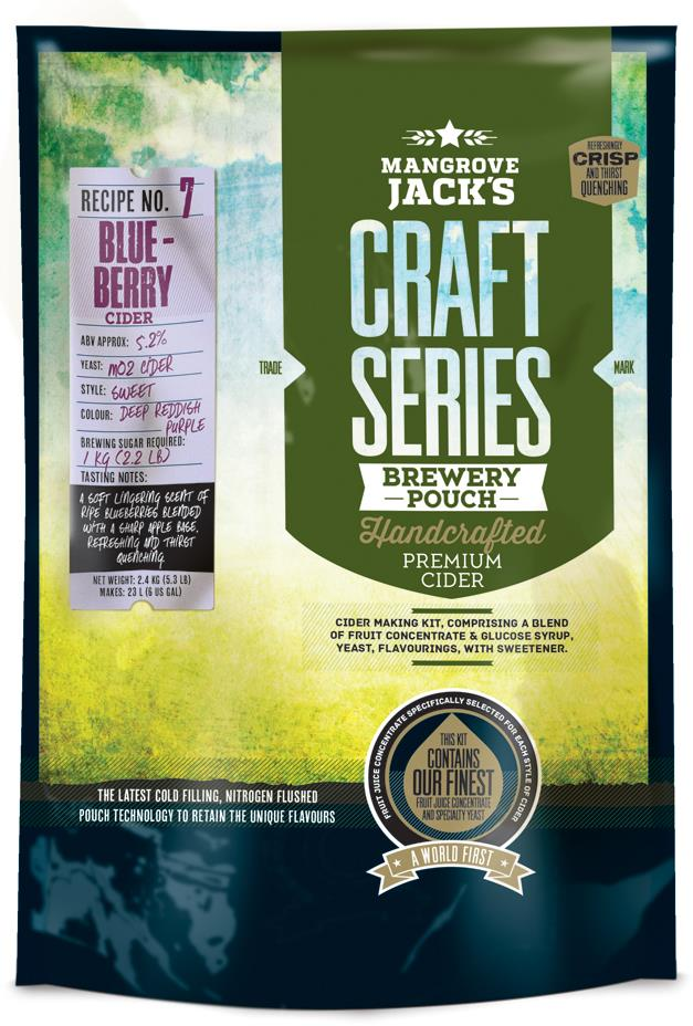 Blueberry Cider Pouch (No. 7)
