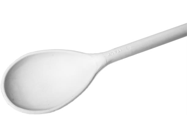 Bryggeskje hvit plast