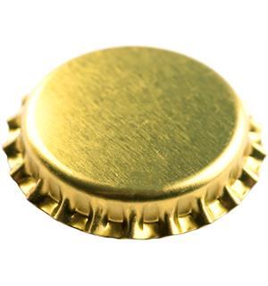 Kronkork gull 26mm 100 stk