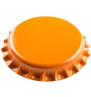 Kronkork oransje 26mm 100 stk