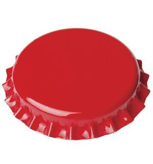 Kronkork rød 26mm 100 stk